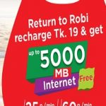 Robi 5000 MB Free Internet Offer