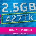 GP 2.5GB 427TK Offer For 28 Days Validity