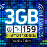 GP 3GB Internet Package Only 159Tk
