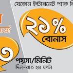 Banglalink 21Tk Recharge Offer (63 paisha call rate)