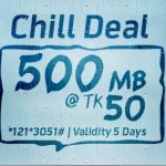 GP 500MB 50Tk Offer For 5 Days Validity