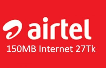 Airtel 150MB Internet 27Tk Offer