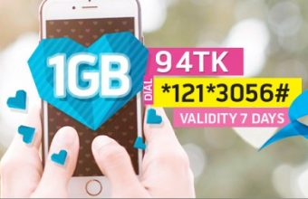 GP 1GB Internet 94Tk Offer For 7 Days