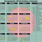 Bangladesh Public Holiday Calendar 2018