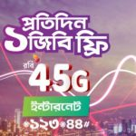 Robi 4.5G 1GB Daily Internet Free Offer