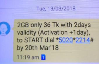 GP 2GB 36Tk Internet Offer