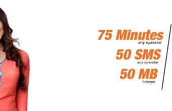 Banglalink 43Tk Bundle Offer 75 Minute, 50SMS & 50MB Internet