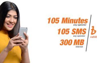 Banglalink 78Tk Bundle Offer 105 Minute, 105SMS & 300MB Internet