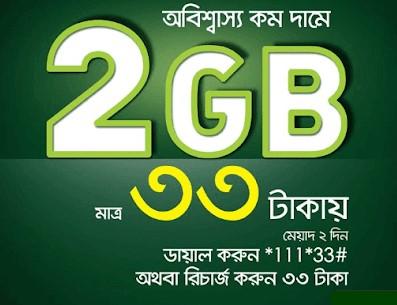 Teletalk 2GB 33Tk Internet Offer
