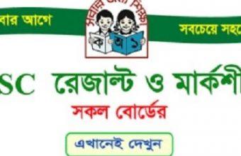 PSC Result 2018 Marksheet। dperesult.teletalk.com.bd