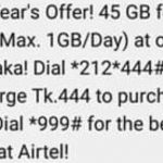 Robi 45GB Internet 444Tk Offer Activation Info