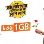 Banglalink 1GB 31Tk Internet Package