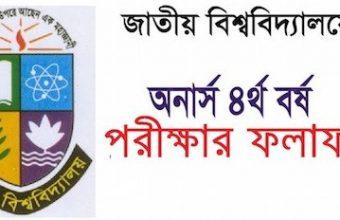 Honours 4th Year Result 2019 National University| nu.edu.bd