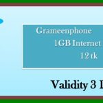 GP 1GB 12Tk Internet Offer
