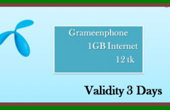 GP 1GB 12Tk Internet Offer