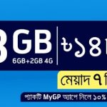 GP 8GB Internet 148Tk Offer