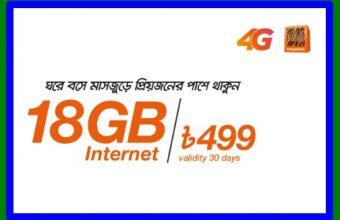 Banglalink 18GB 499Tk Internet Offer