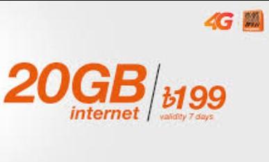 Banglalink 20GB 199Tk