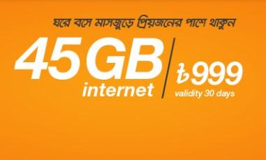 Banglalink 45GB 999Tk