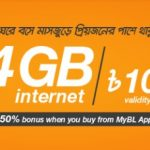 Banglalink 4GB 108Tk Internet Offer