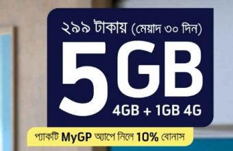 GP 5GB 299Tk Internet Offer