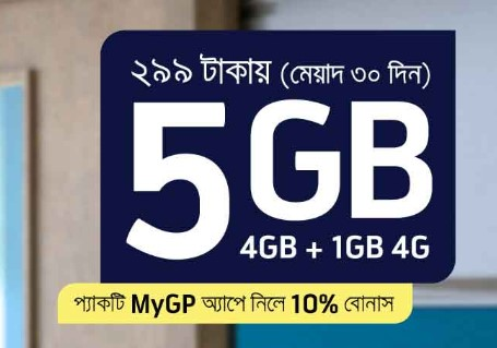 GP 5GB 299Tk