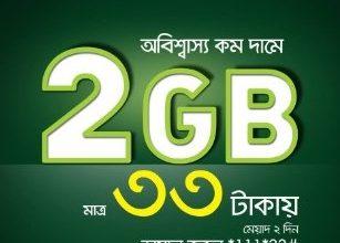 Teletalk 2GB Data 33TK Offer – Teletalk Internet Offer 2021